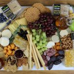 Wild Garden Honey Comb Charcuterie Cheese and Meat board
