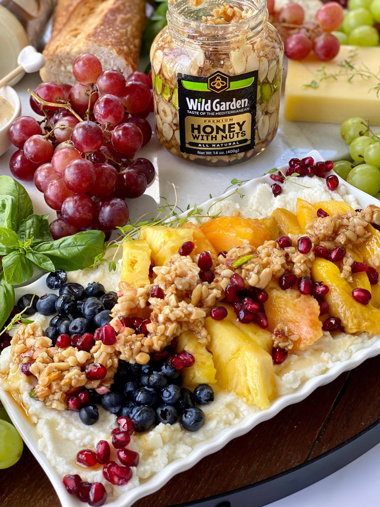 Ricotta Cheese Dip with Fresh Fruits and Honey Nut-01