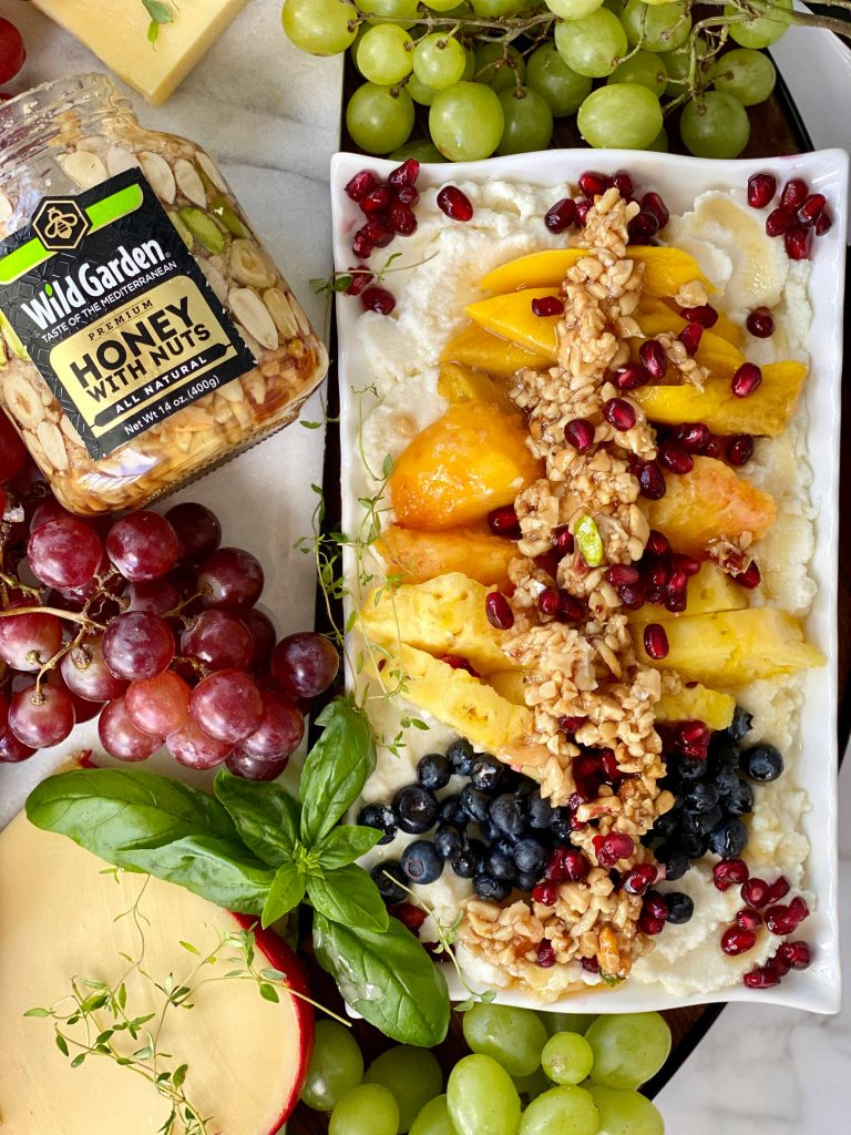Ricotta Cheese Dip with Fresh Fruits and Honey Nut-04